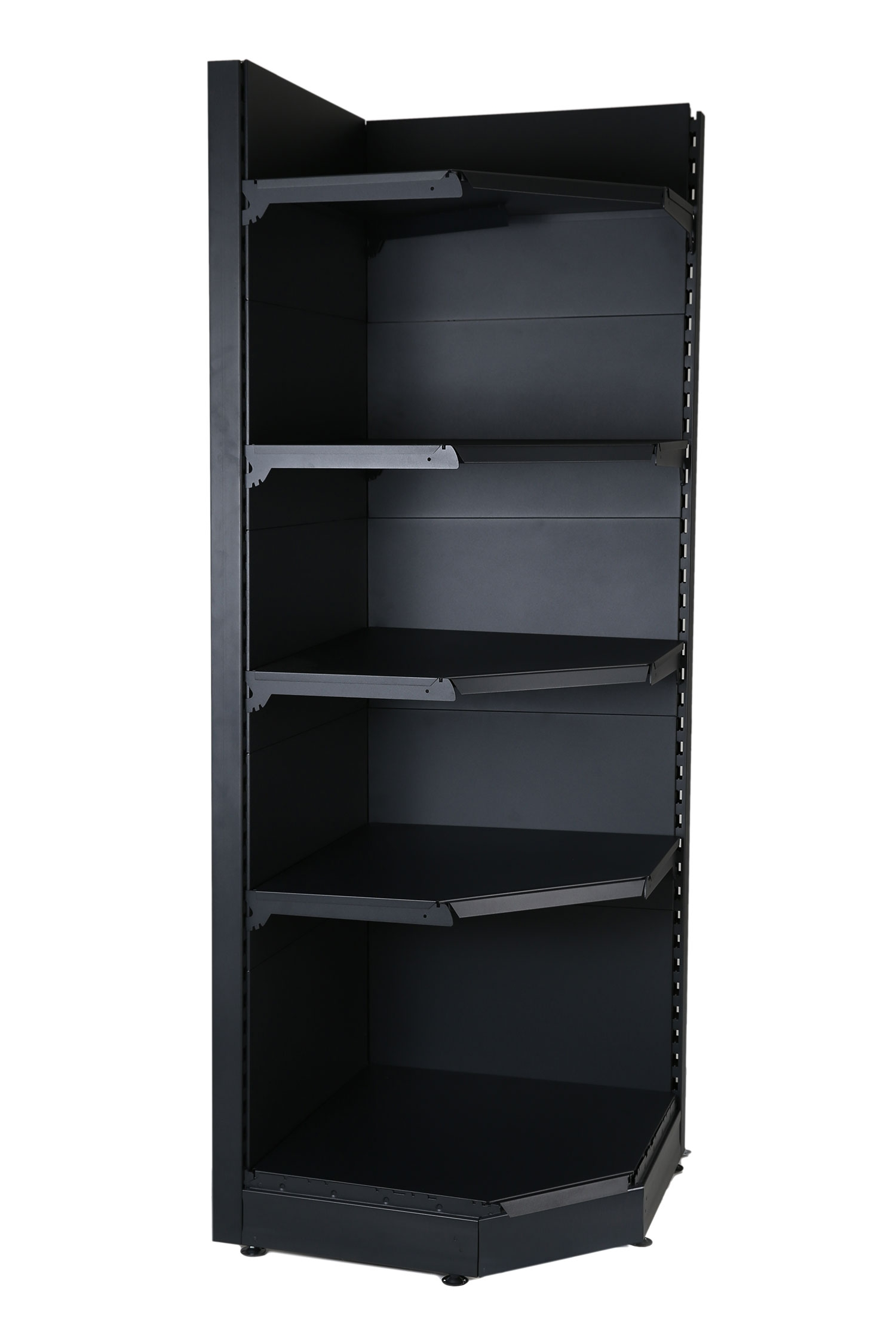 Black Corner Shelving