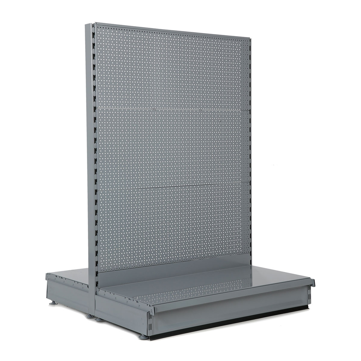 Grey / Silver Peg Board Gondola Shelving
