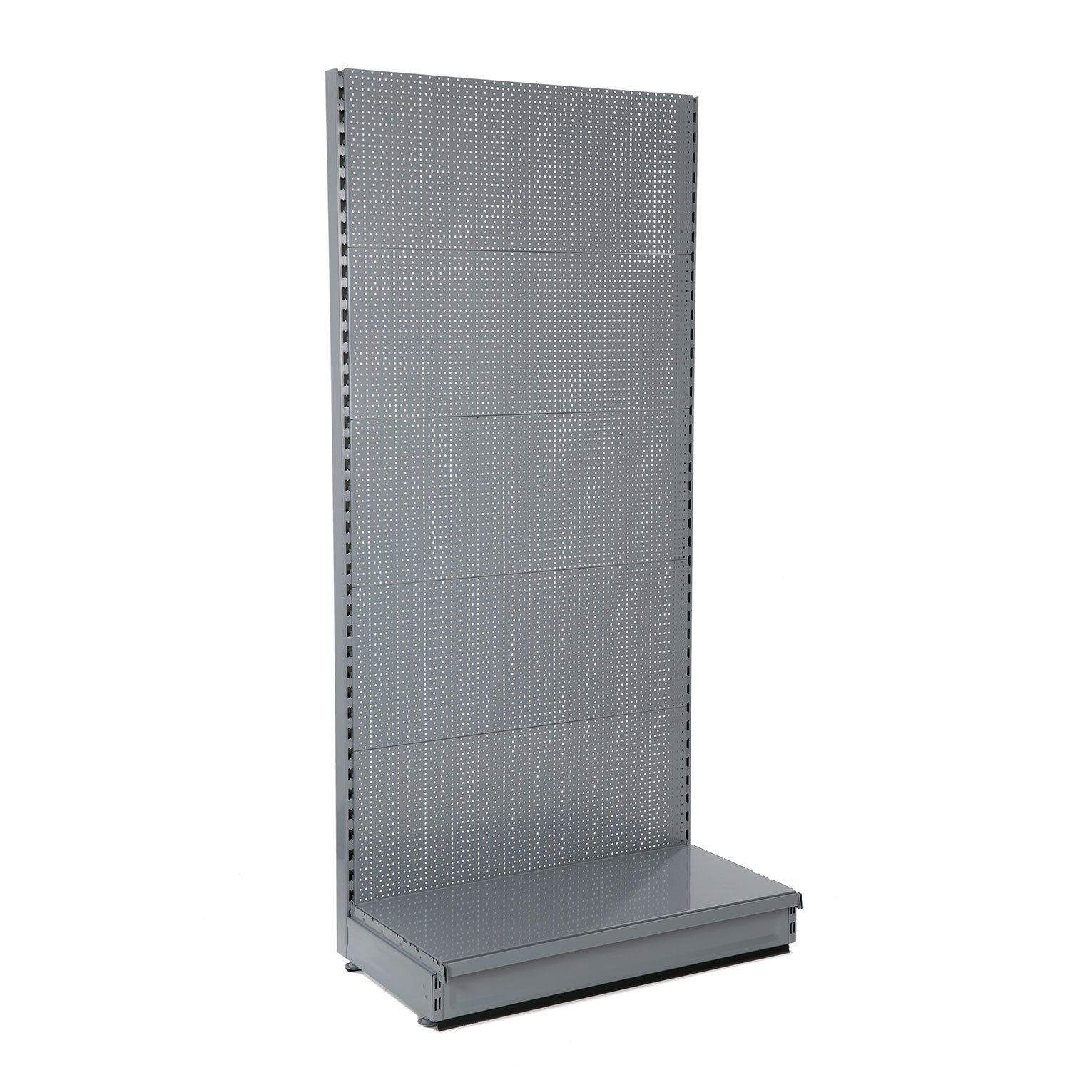 Grey / Silver Peg Board Wall Shelving