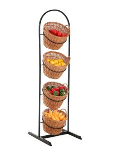 4 Tier Wicker Basket Display