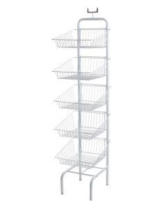 5 Tier Basket Unit (White)