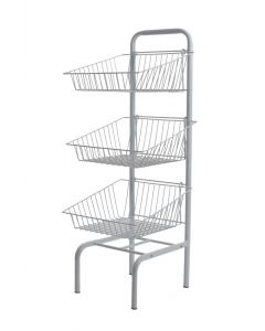 3 Tier Basket Unit (White)