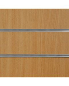 2 x Beech Slatwall Panels 1200mm High x 1200mm Wide (portrait)