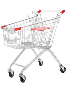 Red Wire Shopping Trolley