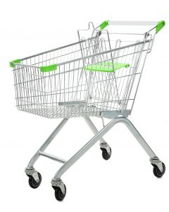 Green Wire Shopping Trolley