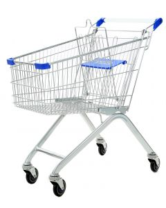 Blue Wire Shopping Trolley