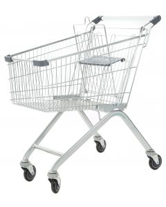 Grey Wire Shopping Trolley