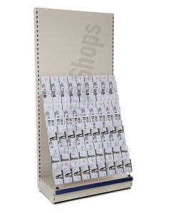 14 Tier Card Bay, 2.4m high with 470mm base
