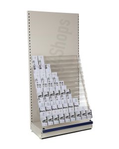 14 Tier Card Bay, 2.1m high with 470mm base