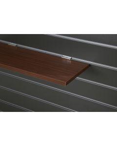 Walnut Slatwall Shelf