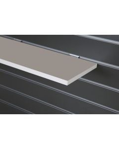 White Slatwall Shelf