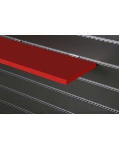 Red Slatwall Shelf