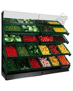 Wall Fruit and Vegetable Displays - 4 Tier Display