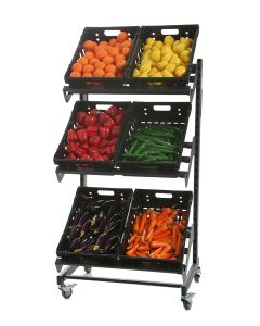 Single Sided Mobile Fruit and Vegetable Display - 800mm