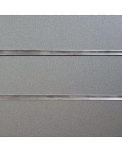 Pewter Slatwall Panels 2400mm High x 1200mm Wide (portrait)