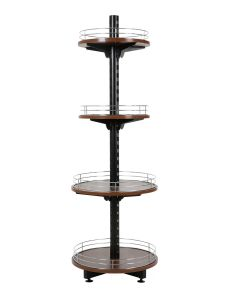 Walnut Wine Tower