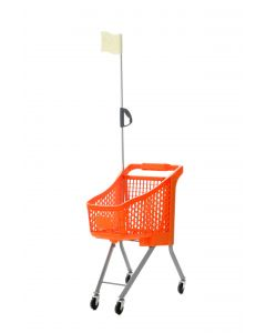 Orange Child Sized Shopping Trolley