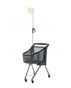 Grey Child Size Shopping Trolley