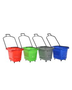 55L Rolling Shopping Baskets