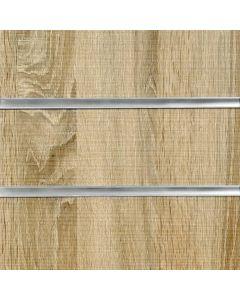 2x Rustic Oak Slatwall Panels 1200mm High x 1200mm Wide (portrait)