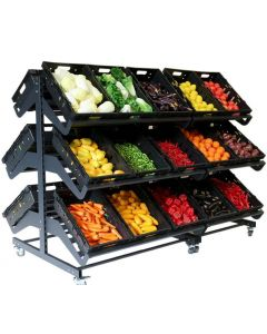 2000mm Double Sided Mobile Fruit and Vegetable Display