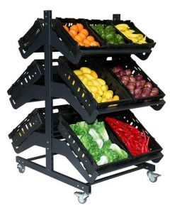 800mm Double Sided Mobile Fruit and Vegetable Display