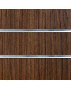 Walnut Slatwall Panels 2400mm High x 1200mm Wide (portrait)