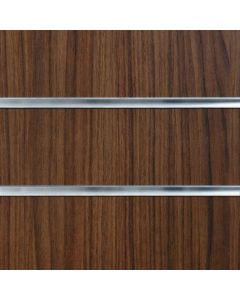 2 x Walnut Slatwall Panels 1200mm High x 1200mm Wide (portrait)